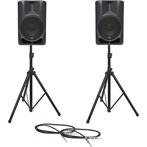 Peavey Impulse 12D Speaker Pair with Stands and Cables-thumbnail