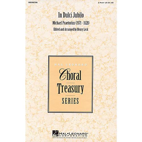 Hal Leonard In Dulci Jubilo 2-Part arranged by Henry Leck