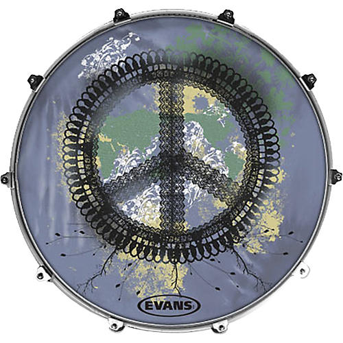 Evans Inked by Evans Woodstock Series Kick Drumhead-thumbnail