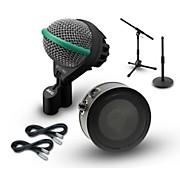 AKG Inside and Outside Kick Drum Mic Cable and Stand Package