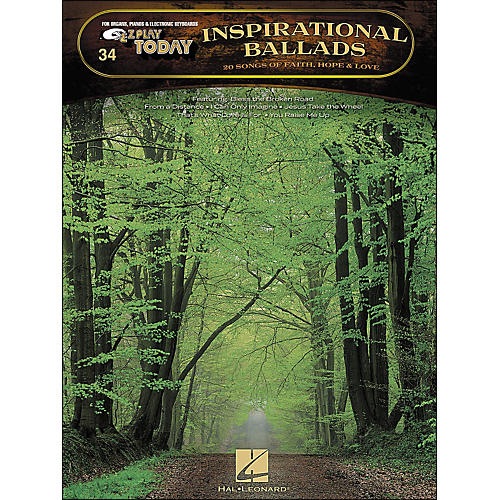 Hal Leonard Inspirational Ballads 20 Songs Of Faith, Hope And Love E-Z Play 34
