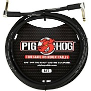 """Pig Hog Instrument Cable 1/4"""" Right Angle - 1/4"""" Right  Angle (1 ft.)"""