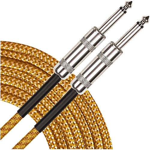 Musician's Gear Instrument Cable Black and Tweed 18.5 ft.