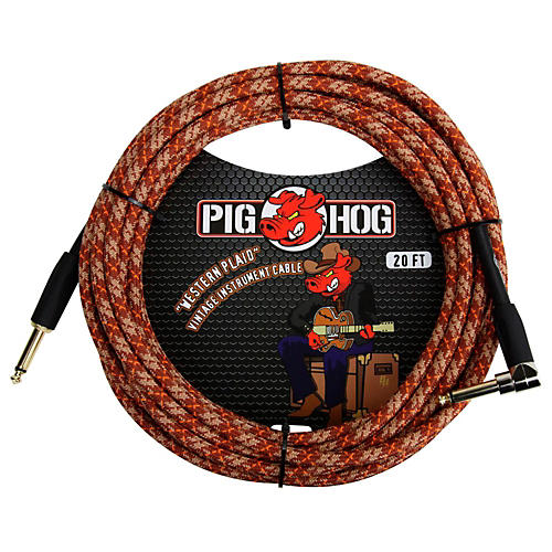 Pig Hog Instrument Cable Western Plaid 1/4