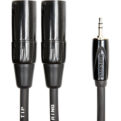 Roland Interconnect Cable-3.5mm-Dual XLR (Male)-thumbnail