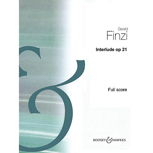 Boosey and Hawkes Interlude, Op 21 (Full Score) Boosey & Hawkes Scores/Books Series Book by Gerald Finzi