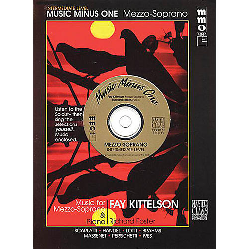 Music Minus One Intermediate Mezzo Soprano Solos Music Minus One Series Softcover with CD