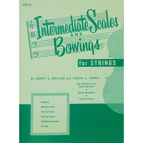 Hal Leonard Intermediate Scales And Bowings for Violin First Position