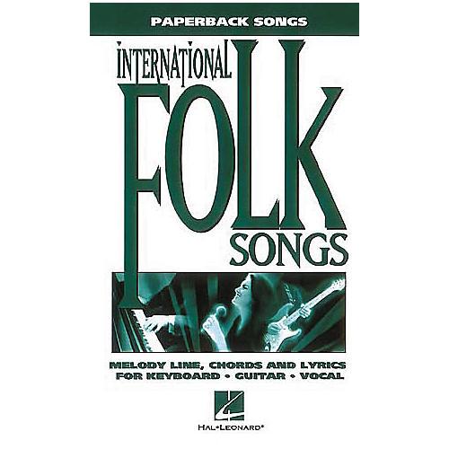Hal Leonard International Folksongs Piano, Vocal, Guitar Book