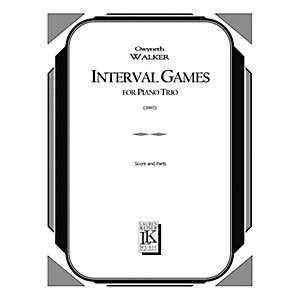 Lauren Keiser Music Publishing Interval Games Piano, Violin, Cello LKM Mu...