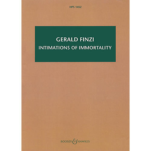 Boosey and Hawkes Intimations of Immortality, Op. 29 Boosey & Hawkes Scores/Books Series Composed by Gerald Finzi