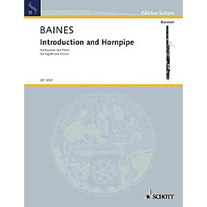 Schott Introduction and Hornpipe Bassoon with Piano Accompaniment Schott ... by Schott