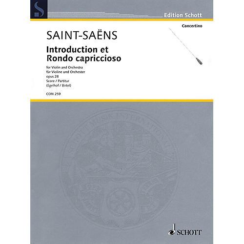 Schott Introduction et Rondo Capriccioso, Op. 28 Orchestra Series