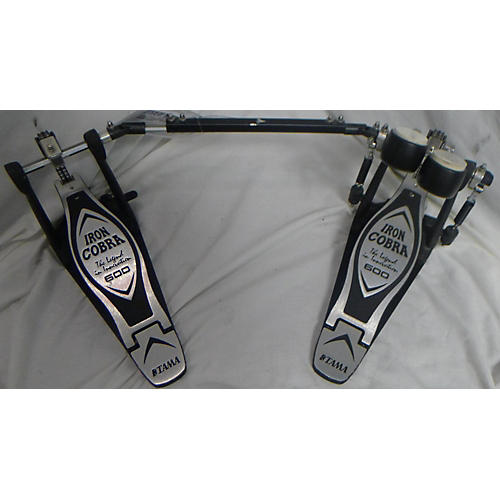 used tama iron cobra 600 double pedal double bass drum pedal guitar center. Black Bedroom Furniture Sets. Home Design Ideas
