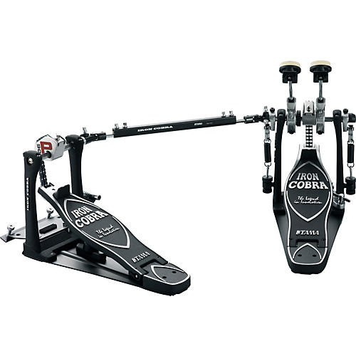 Tama Iron Cobra Power Glide Double Kick Drum Pedal with Cobra Coil