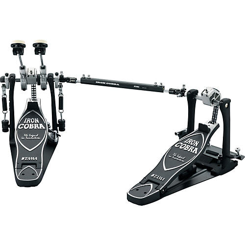 Tama Iron Cobra Power Glide Left Handed Double Kick Drum Pedal with Cobra Coil