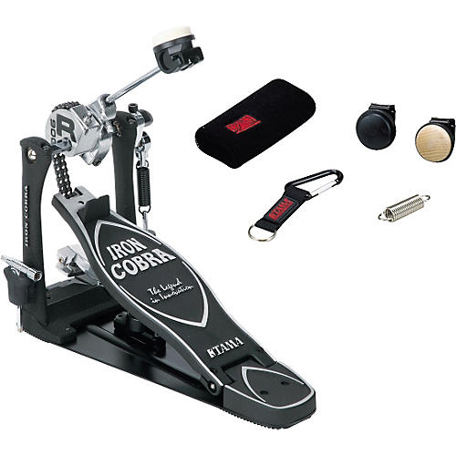 Tama Iron Cobra Rolling Glide Single Kick Drum Pedal with Cobra Coil and Bonus Package