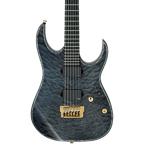 Ibanez Iron Label RG Series RGIX20FEQM Electric Guitar Transparent Gray Quilted Maple