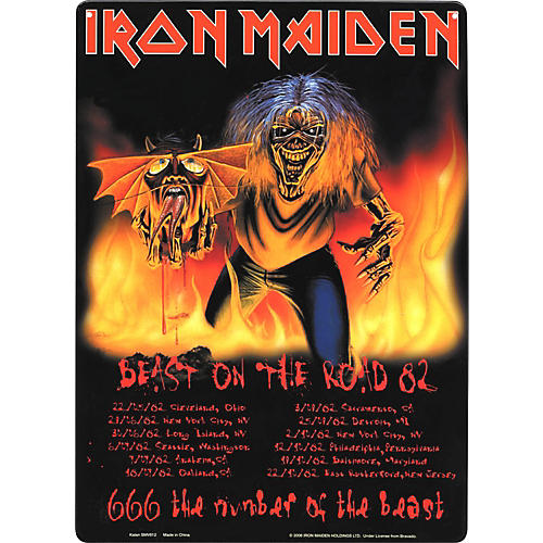 Gear One Iron maiden Beast on the Road Metal Sign