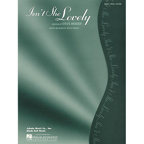 Hal Leonard Isn't She Lovely