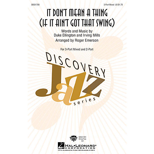 Hal Leonard It Don't Mean a Thing ShowTrax CD Arranged by Roger Emerson