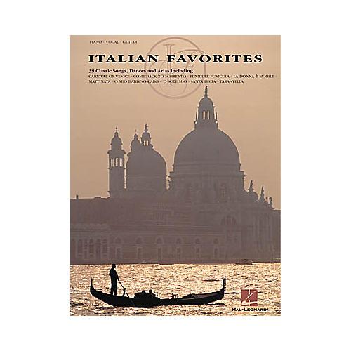 Hal Leonard Italian Favorites Piano, Vocal, Guitar Songbook-thumbnail