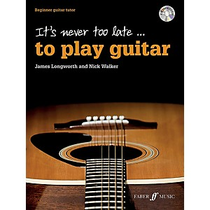 Alfred It's Never Too Late . . . to Play Guitar Book and CD Beginner by Alfred