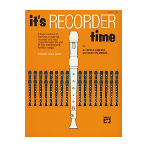 Alfred It's Recorder Time Book-thumbnail