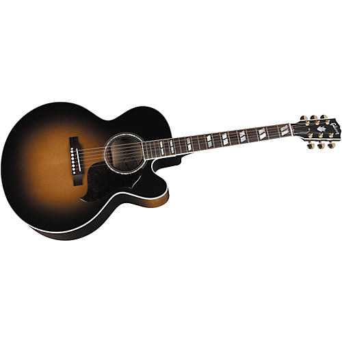 Gibson J-185 EC Acoustic-Electric Guitar Vintage Sunburst