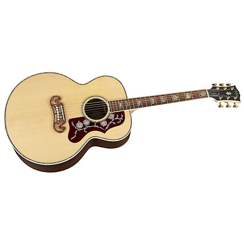 Gibson J-200 Custom Acoustic/Electric Guitar Natural Gold Hardware