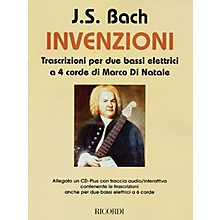Ricordi J.S. Bach - Inventions (Transcriptions for 2 Four-String Electric Basses) Misc Series CD-ROM
