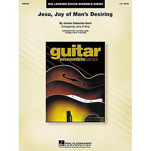 Hal Leonard J.S. Bach Jesu Joy of Man's Desiring Guitar Ensemble Score-thumbnail