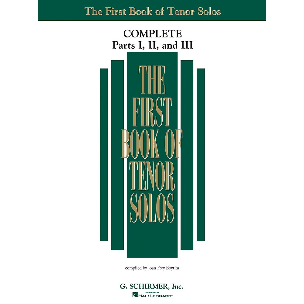 G. Schirmer The First Book Of Tenor Solos Complete Parts 1, 2 And 3 1374244621575