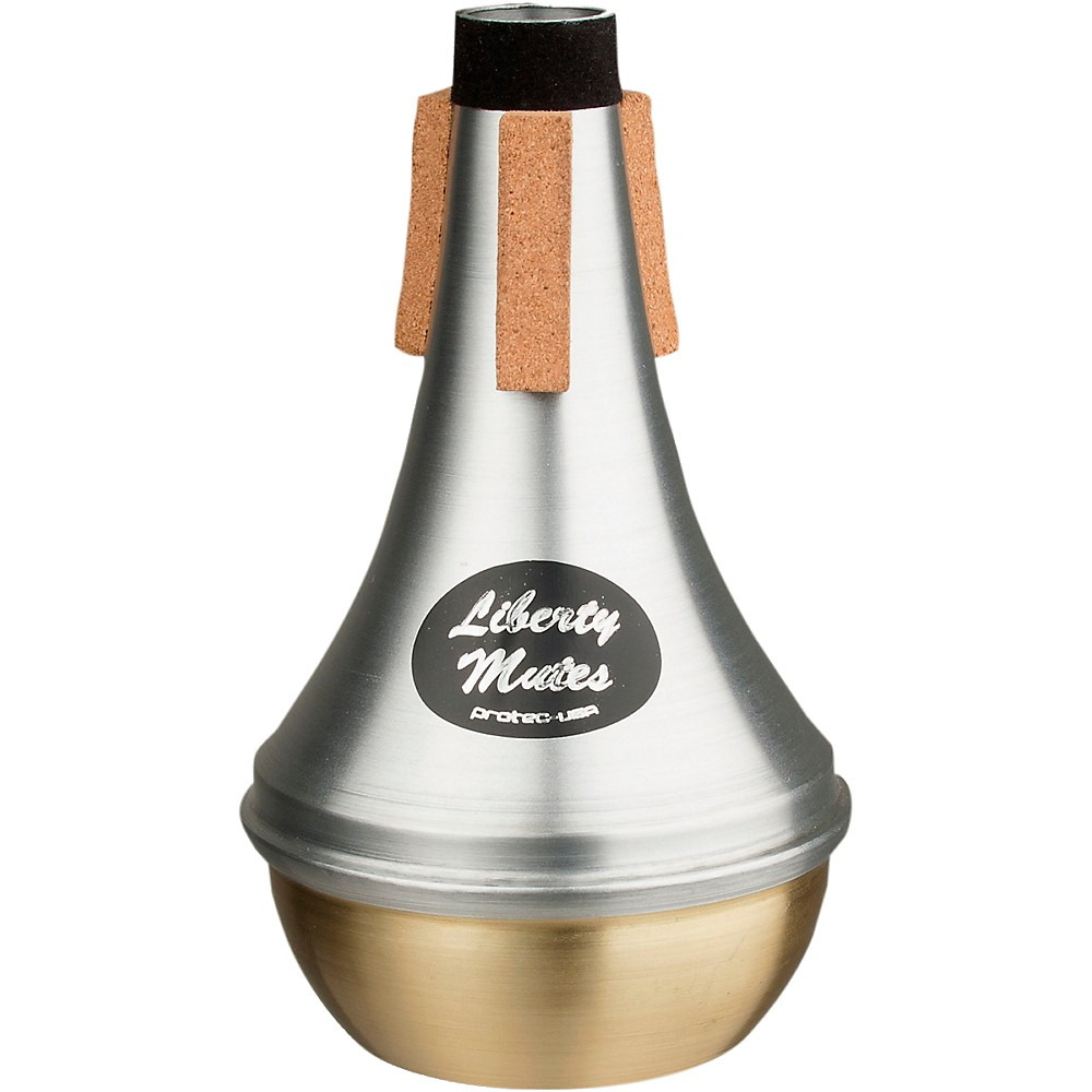 Protec Liberty Trumpet Straight Aluminum Mute With Brass End 1379945710623