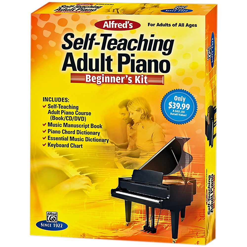 Alfred Self-Teaching Adult Piano Beginner's Kit 1382366865400