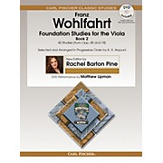 Carl Fischer Foundation Studies for the Viola - Book 2 (from Opp. 45 and 74) Book/DVD