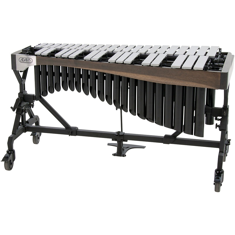 Adams Alpha Series 3.0 Octave Vibraphone Silver Bars Motor Traveler Frame Graphite Rails Satin Gold Resonators 1382969920276
