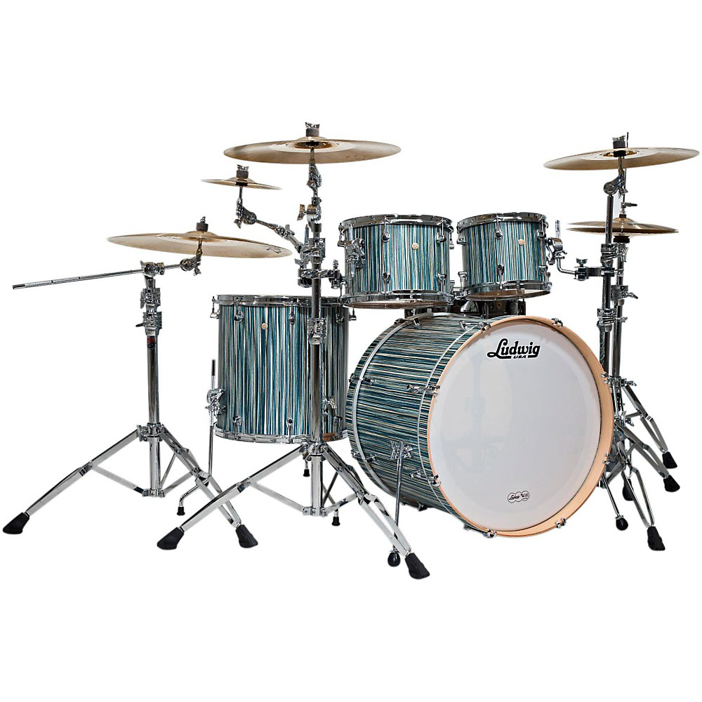 Ludwig Signet 105 Terabeat 4-Piece Shell Pack Alpine Blue 1385392680287