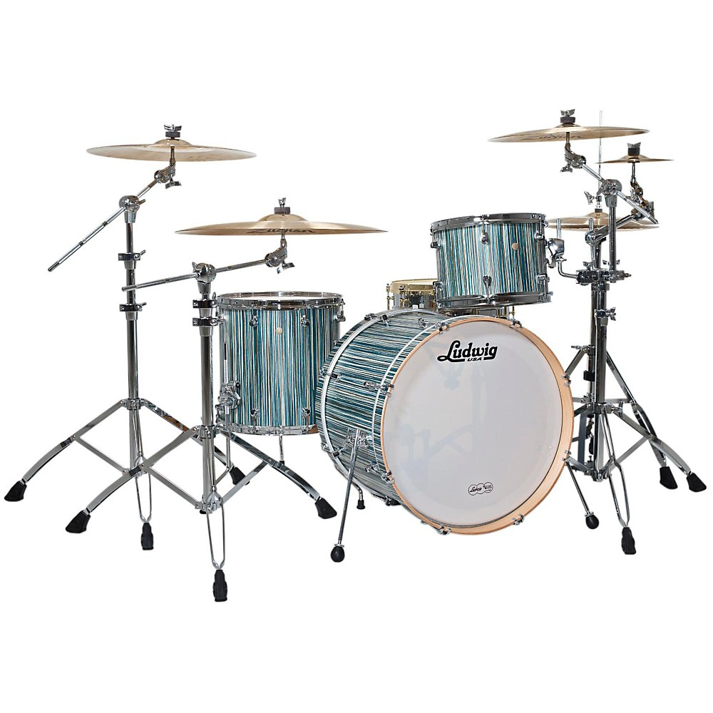 Ludwig Signet 105 Gigabeat 3-Piece Shell Pack Alpine Blue 1385392680295