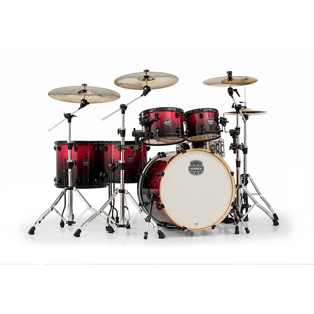 Mapex Armory Series 6-Piece Studioease Shell Pack Fast Toms Magna Red 1386001296684