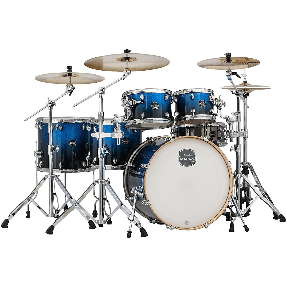 Mapex Armory Series 6-Piece Studioease Shell Pack Fast Toms Photon Blue 1386001297195