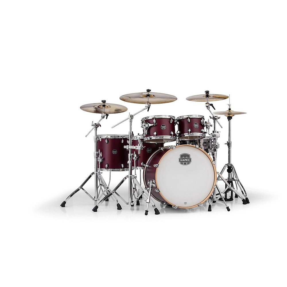 Mapex Armory Series 6-Piece Studioease Shell Pack Fast Toms Cordovan Red 1386001296343