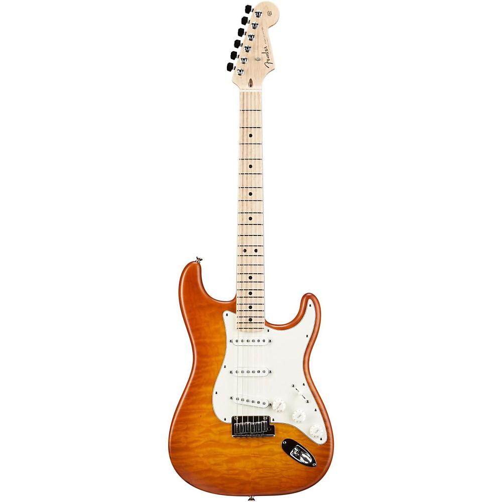 Fender Custom Shop Custom Deluxe Stratocaster Electric Guitar With Maple Fingerboard Honey Burst Maple -  1509972891