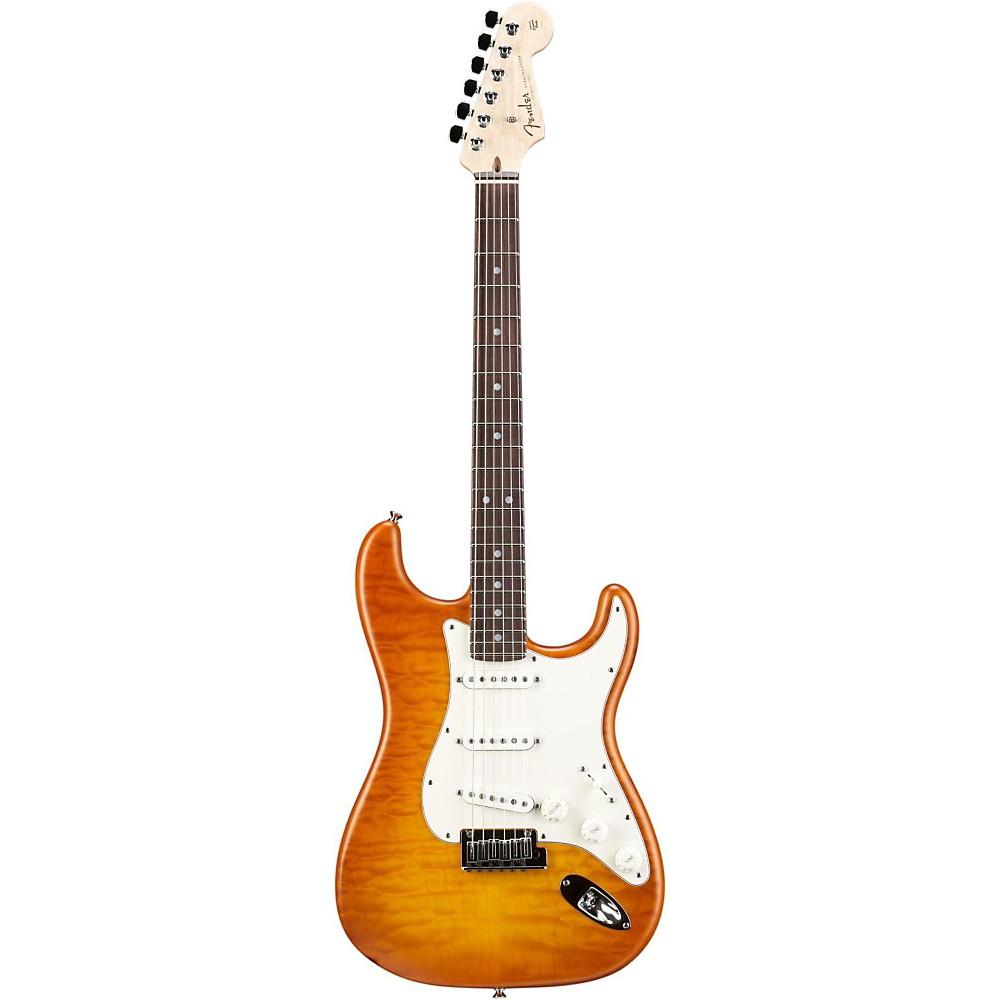 Fender Custom Shop Custom Deluxe Stratocaster Electric Guitar With Rosewood Fingerboard Honey Burst Rosewood -  1509970891