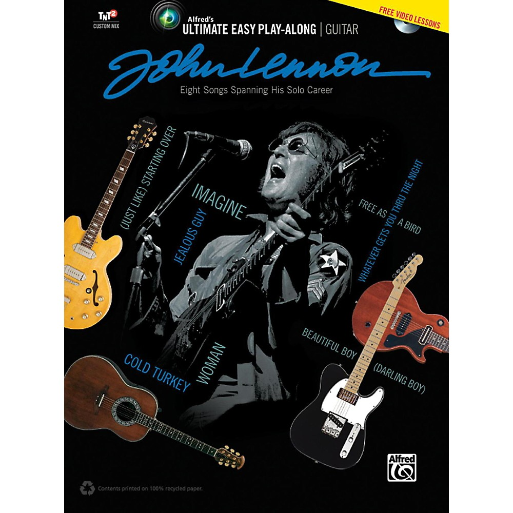 Alfred John Lennon Ultimate Easy Guitar Play-Along Book & Dvd 1388417098791