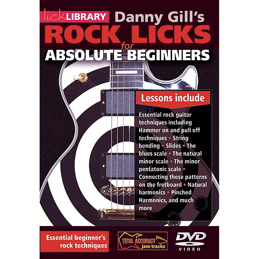 Hal Leonard Rock Licks For Absolute Beginners - Lick Library DVD 1389983299237