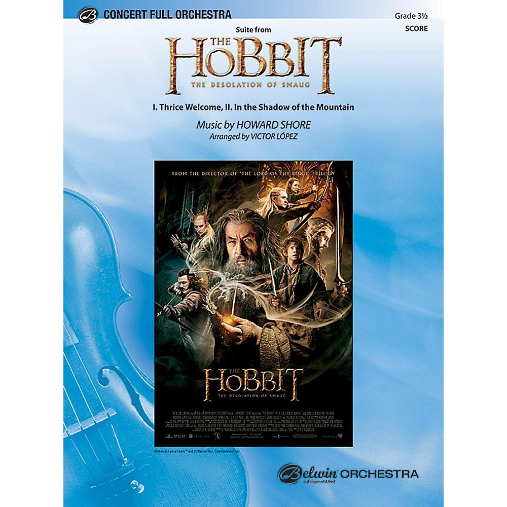 Alfred Suite from The Hobbit: The Desolation of Smaug Full Orchestra Grade 3.5 Set 1396278322620