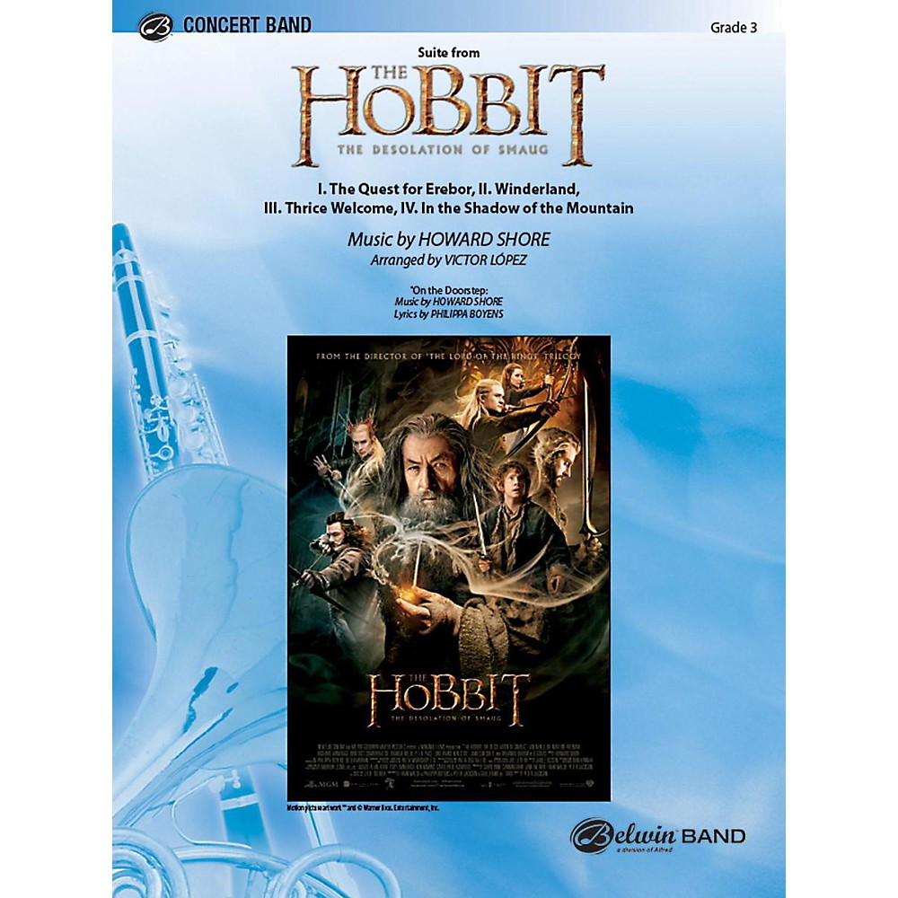 Alfred Suite from The Hobbit: The Desolation of Smaug Concert Band Grade 3.5 Set 1396278323012