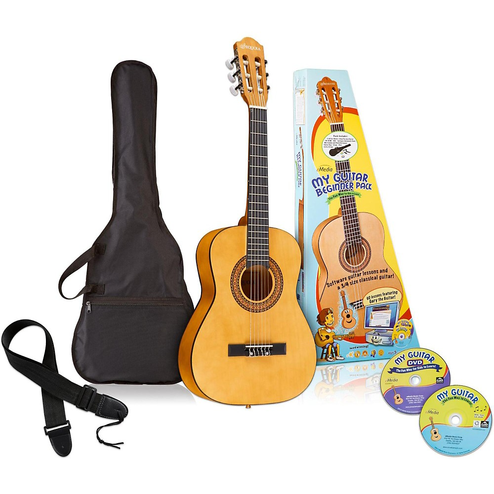 Emedia My Guitar 3/4 Nylon-String Beginner Acoustic Guitar Pack 1397745539097