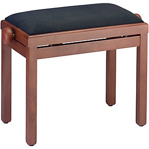 Musician's Gear Pb39 Adjustable-Height Piano Bench Black Velvet Top Mahogany Matte Finish